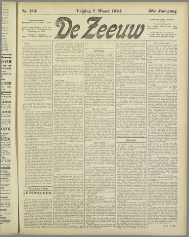 De Zeeuw. Christelijk-historisch nieuwsblad voor Zeeland 1924-03-07