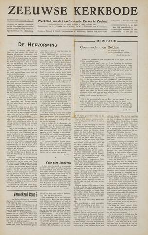 Zeeuwsche kerkbode, weekblad gewijd aan de belangen der gereformeerde kerken/ Zeeuwsch kerkblad 1957-11-01