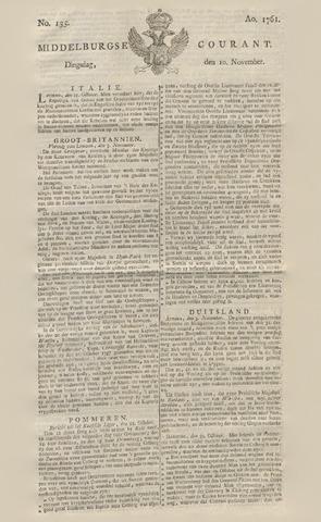 Middelburgsche Courant 1761-11-10
