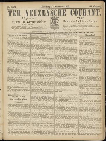 Ter Neuzensche Courant. Algemeen Nieuws- en Advertentieblad voor Zeeuwsch-Vlaanderen / Neuzensche Courant ... (idem) / (Algemeen) nieuws en advertentieblad voor Zeeuwsch-Vlaanderen 1900-09-27