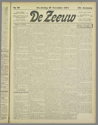 De Zeeuw. Christelijk-historisch nieuwsblad voor Zeeland 1924-11-27