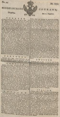 Middelburgsche Courant 1771-08-06