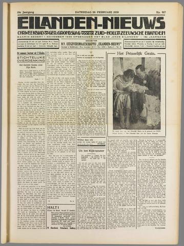 Eilanden-nieuws. Christelijk streekblad op gereformeerde grondslag 1938-02-26