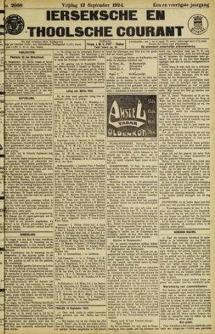 Ierseksche en Thoolsche Courant 1924-09-12