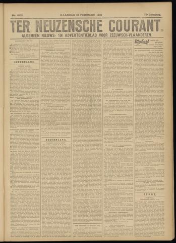 Ter Neuzensche Courant. Algemeen Nieuws- en Advertentieblad voor Zeeuwsch-Vlaanderen / Neuzensche Courant ... (idem) / (Algemeen) nieuws en advertentieblad voor Zeeuwsch-Vlaanderen 1932-02-22
