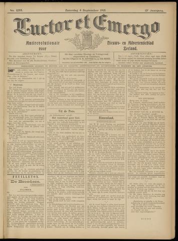 Luctor et Emergo. Antirevolutionair nieuws- en advertentieblad voor Zeeland / Zeeuwsch-Vlaanderen. Orgaan ter verspreiding van de christelijke beginselen in Zeeuwsch-Vlaanderen 1915-09-04