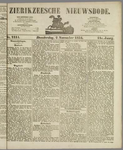 Zierikzeesche Nieuwsbode 1854-11-02