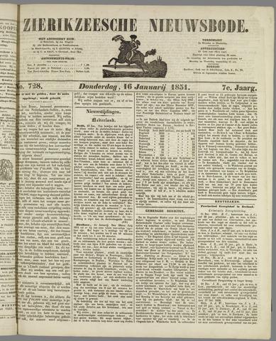 Zierikzeesche Nieuwsbode 1851-01-16
