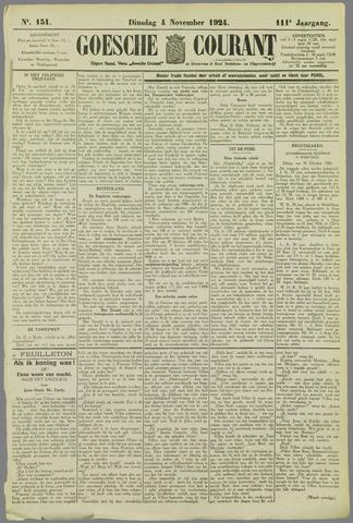Goessche Courant 1924-11-04