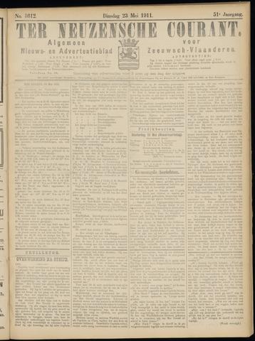 Ter Neuzensche Courant. Algemeen Nieuws- en Advertentieblad voor Zeeuwsch-Vlaanderen / Neuzensche Courant ... (idem) / (Algemeen) nieuws en advertentieblad voor Zeeuwsch-Vlaanderen 1911-05-23