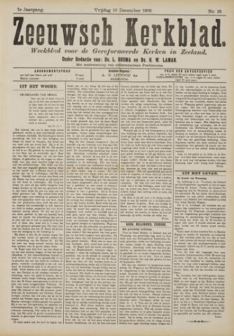 Zeeuwsche kerkbode, weekblad gewijd aan de belangen der gereformeerde kerken/ Zeeuwsch kerkblad 1909-12-10