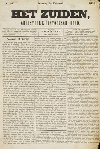 Het Zuiden, Christelijk-historisch blad 1880-02-24