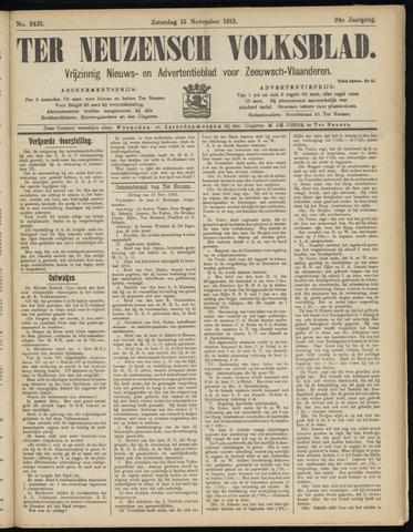 Ter Neuzensch Volksblad. Vrijzinnig nieuws- en advertentieblad voor Zeeuwsch- Vlaanderen / Zeeuwsch Nieuwsblad. Nieuws- en advertentieblad voor Zeeland 1913-11-15