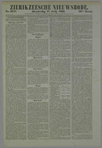 Zierikzeesche Nieuwsbode 1882-07-27