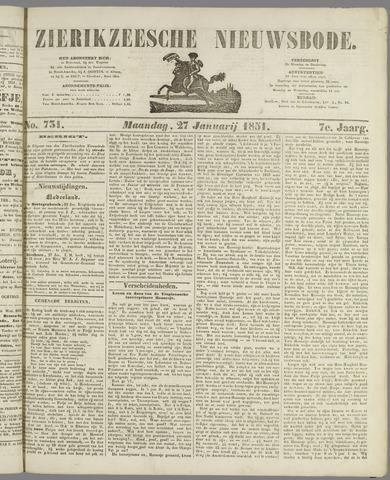 Zierikzeesche Nieuwsbode 1851-01-27