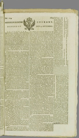Middelburgsche Courant 1805-09-17