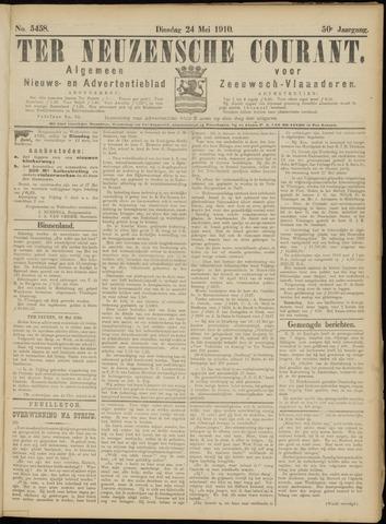 Ter Neuzensche Courant. Algemeen Nieuws- en Advertentieblad voor Zeeuwsch-Vlaanderen / Neuzensche Courant ... (idem) / (Algemeen) nieuws en advertentieblad voor Zeeuwsch-Vlaanderen 1910-05-24