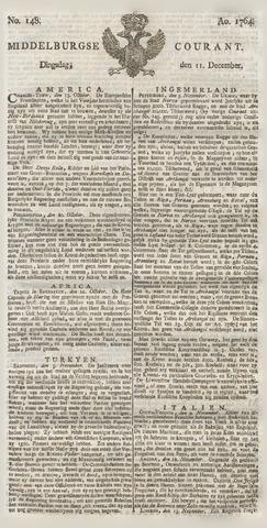 Middelburgsche Courant 1764-12-11