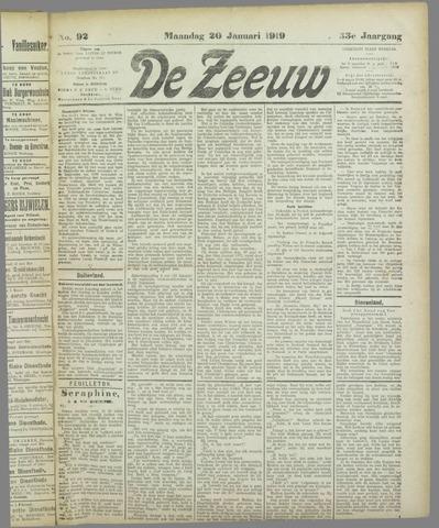 De Zeeuw. Christelijk-historisch nieuwsblad voor Zeeland 1919-01-20