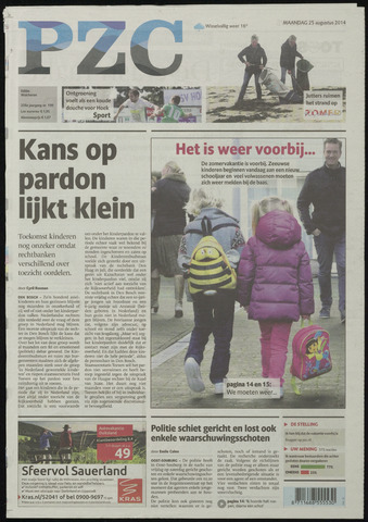 Provinciale Zeeuwse Courant 2014-08-25