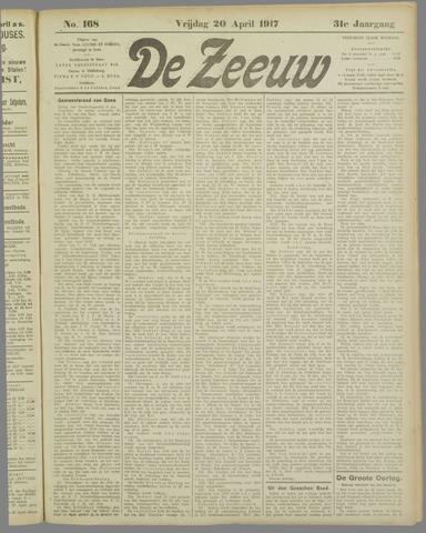 De Zeeuw. Christelijk-historisch nieuwsblad voor Zeeland 1917-04-20