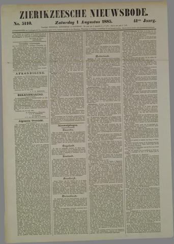 Zierikzeesche Nieuwsbode 1885-08-01