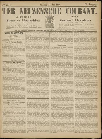 Ter Neuzensche Courant. Algemeen Nieuws- en Advertentieblad voor Zeeuwsch-Vlaanderen / Neuzensche Courant ... (idem) / (Algemeen) nieuws en advertentieblad voor Zeeuwsch-Vlaanderen 1886-07-31