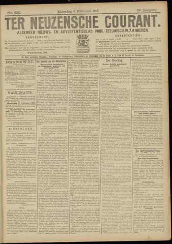 Ter Neuzensche Courant. Algemeen Nieuws- en Advertentieblad voor Zeeuwsch-Vlaanderen / Neuzensche Courant ... (idem) / (Algemeen) nieuws en advertentieblad voor Zeeuwsch-Vlaanderen 1915-02-06
