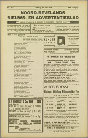 Noord-Bevelands Nieuws- en advertentieblad 1938-06-18