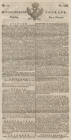 Middelburgsche Courant 1768-02-02