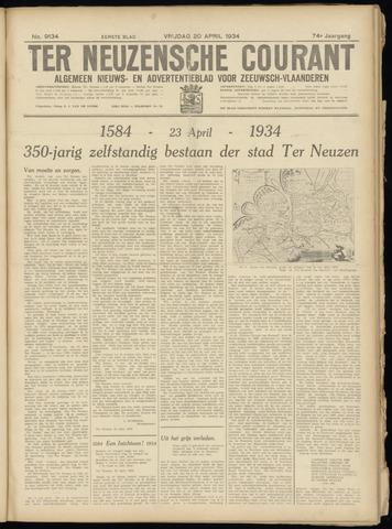 Ter Neuzensche Courant. Algemeen Nieuws- en Advertentieblad voor Zeeuwsch-Vlaanderen / Neuzensche Courant ... (idem) / (Algemeen) nieuws en advertentieblad voor Zeeuwsch-Vlaanderen 1934-04-20