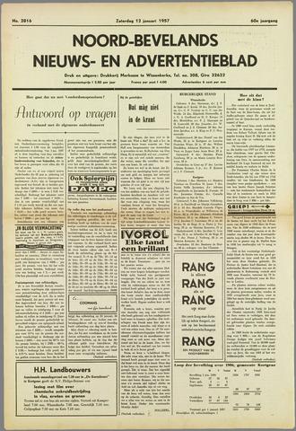 Noord-Bevelands Nieuws- en advertentieblad 1957-01-12