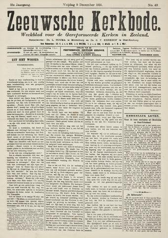 Zeeuwsche kerkbode, weekblad gewijd aan de belangen der gereformeerde kerken/ Zeeuwsch kerkblad 1921-12-09