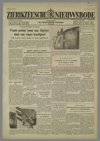 Zierikzeesche Nieuwsbode 1958-07-01