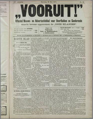 """""""Vooruit!""""Officieel Nieuws- en Advertentieblad voor Overflakkee en Goedereede 1917-05-26"""