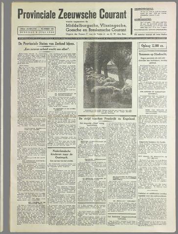 Provinciale Zeeuwse Courant 1940-07-09