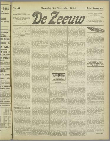 De Zeeuw. Christelijk-historisch nieuwsblad voor Zeeland 1924-11-24