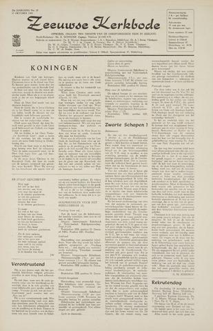 Zeeuwsche kerkbode, weekblad gewijd aan de belangen der gereformeerde kerken/ Zeeuwsch kerkblad 1968-10-17