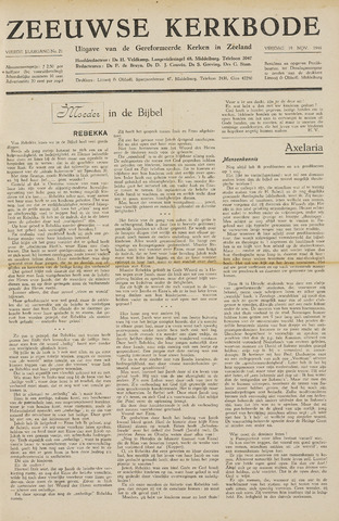 Zeeuwsche kerkbode, weekblad gewijd aan de belangen der gereformeerde kerken/ Zeeuwsch kerkblad 1948-11-19