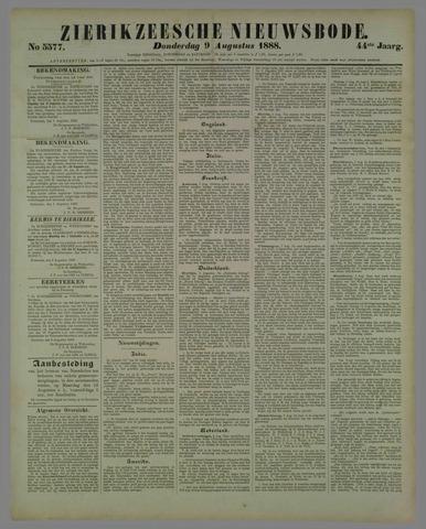 Zierikzeesche Nieuwsbode 1888-08-09