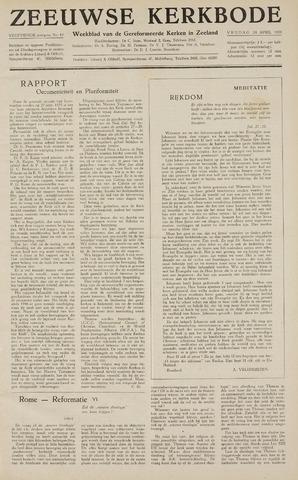 Zeeuwsche kerkbode, weekblad gewijd aan de belangen der gereformeerde kerken/ Zeeuwsch kerkblad 1959-04-24
