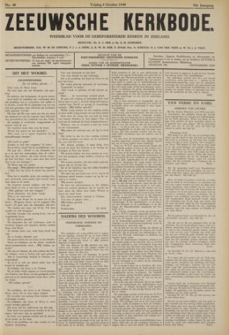Zeeuwsche kerkbode, weekblad gewijd aan de belangen der gereformeerde kerken/ Zeeuwsch kerkblad 1940-10-04