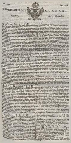 Middelburgsche Courant 1778-11-07