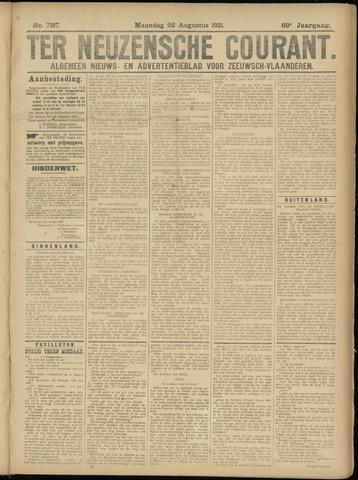 Ter Neuzensche Courant. Algemeen Nieuws- en Advertentieblad voor Zeeuwsch-Vlaanderen / Neuzensche Courant ... (idem) / (Algemeen) nieuws en advertentieblad voor Zeeuwsch-Vlaanderen 1921-08-22
