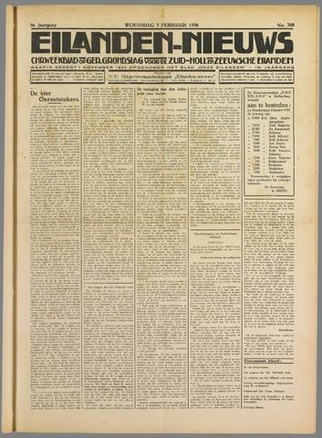 Eilanden-nieuws. Christelijk streekblad op gereformeerde grondslag 1936-02-05