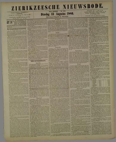 Zierikzeesche Nieuwsbode 1889-08-13