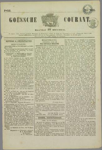 Goessche Courant 1852-12-27
