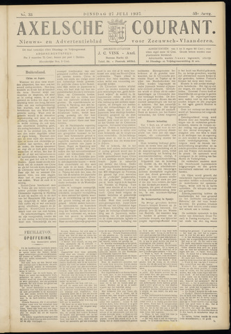 Axelsche Courant 1937-07-27