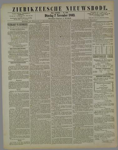Zierikzeesche Nieuwsbode 1893-11-07