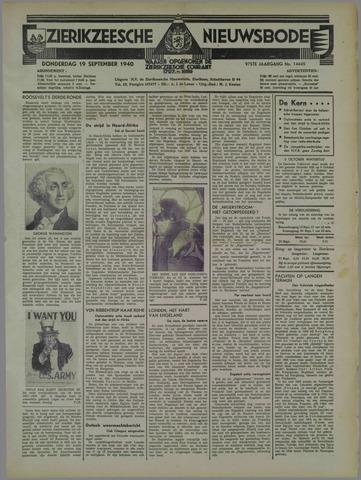 Zierikzeesche Nieuwsbode 1940-09-19